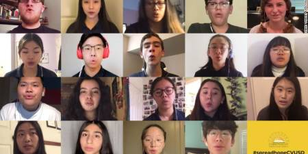 'When their high school choir concert was canceled, technology helped them sing together anyway