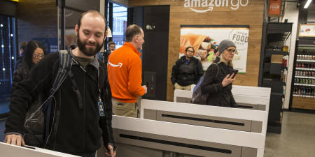 'Amazon reached out to Walmart and Target about cashier-less technology